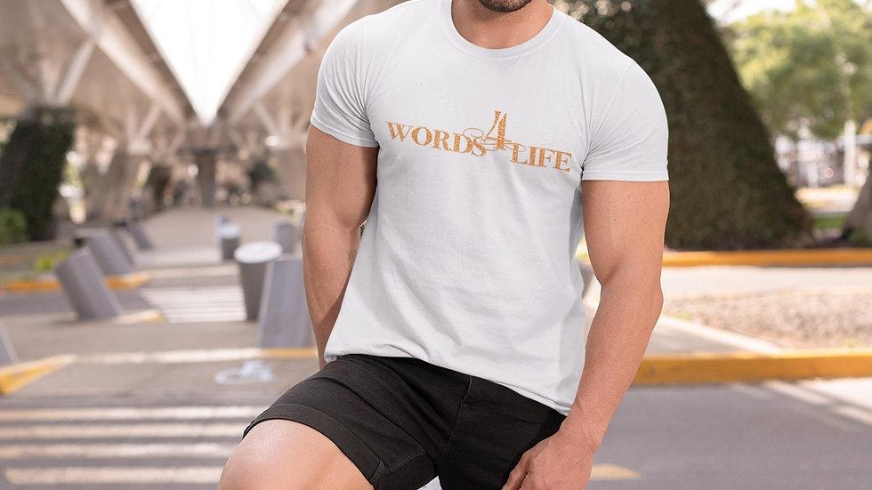 Words 4 Life (orange print) short sleeve t-shirt