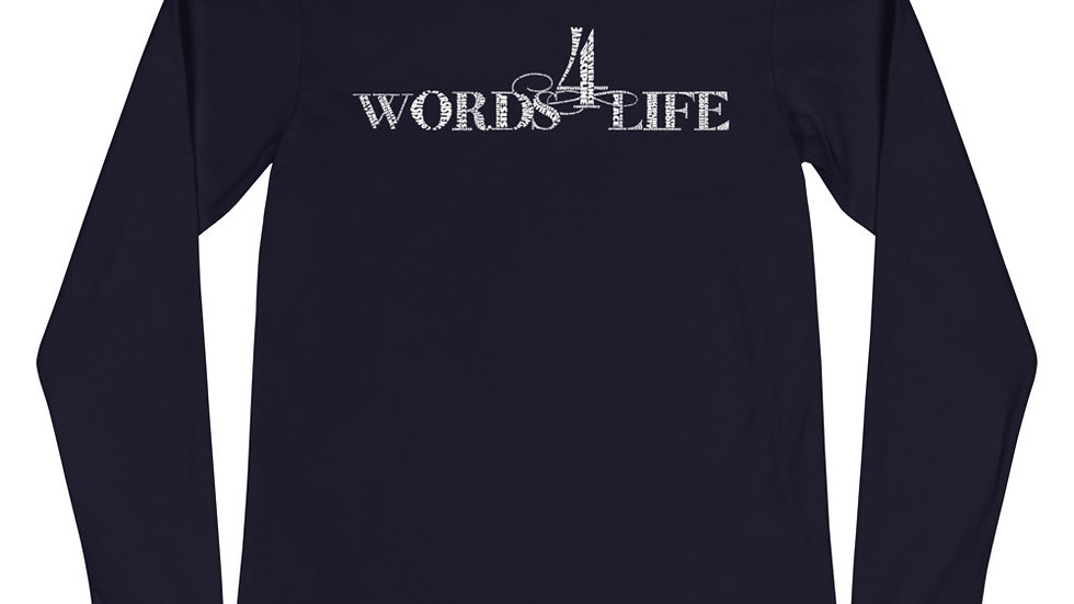 Words 4 Life (white print) long sleeve t-shirt