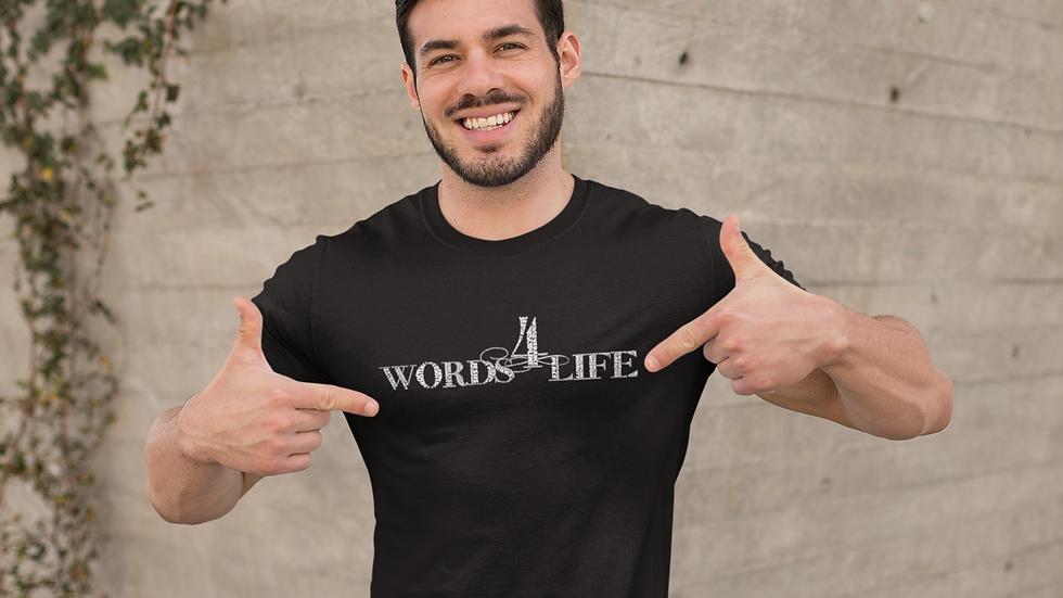 Words 4 Life (white print) short sleeve t-shirt