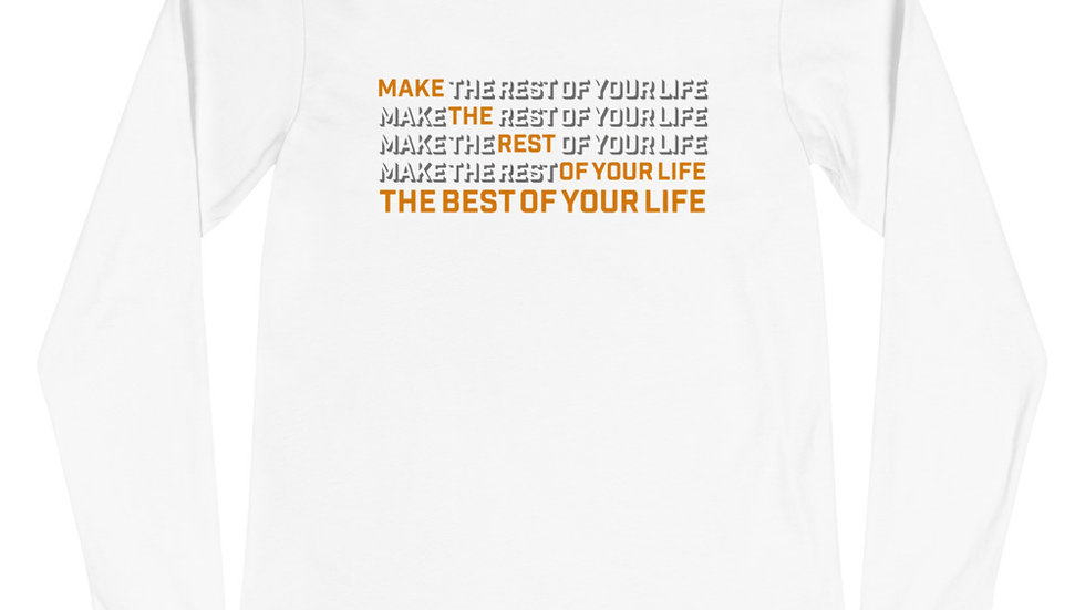 BMT (best of your life - orange print) long sleeve t-shirt