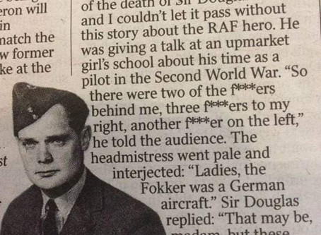 Sir Douglas Bader Speaks to Schoolgirls