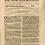 Thumbnail: Deer on Newspaper from July 1st 1713 - Original