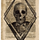 Thumbnail: Gent Skull on Newspaper from August 22nd 1713 - Original
