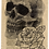Thumbnail: Skull & Rose on Newspaper from June 6th 1713 - Original
