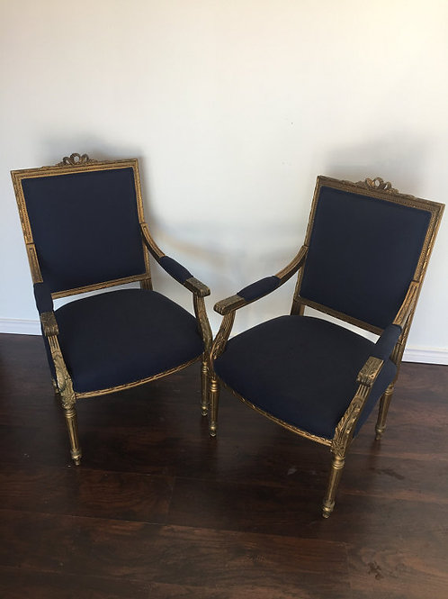 French Neoclassical Style Chair Set