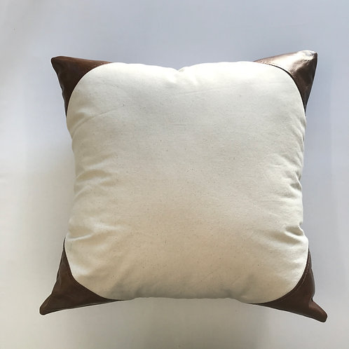 Cowhide Canvas Pillow