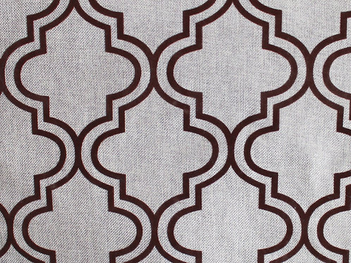 Linen Arabesque Flock_Taupe