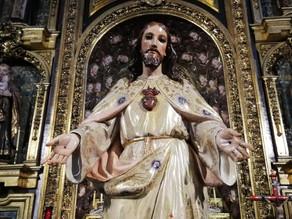 Sagrado Corazón y Bendición de los niños por San Antonio