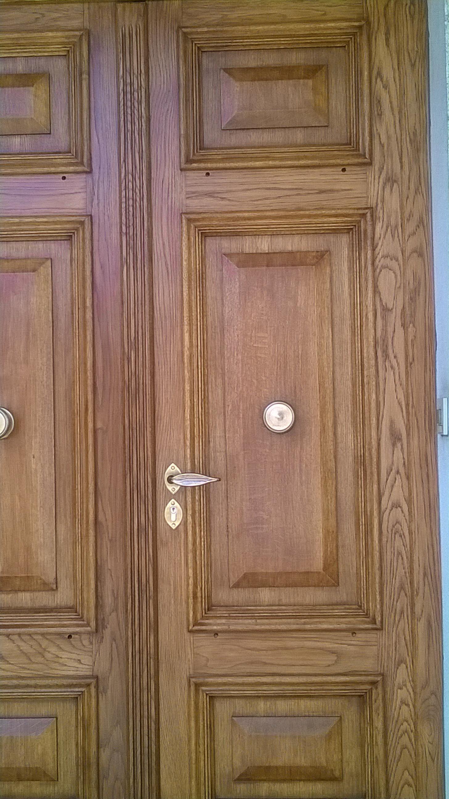 Détail porte d'entrée