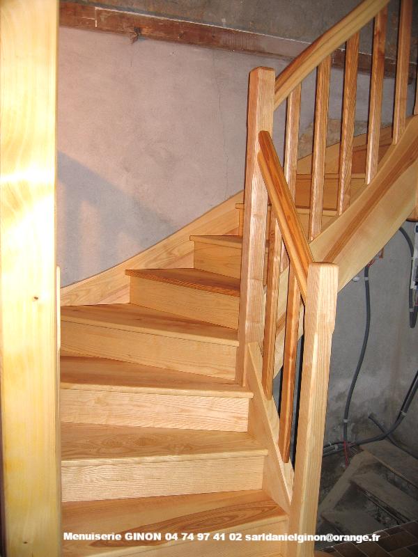 escalier 1/4 tourant