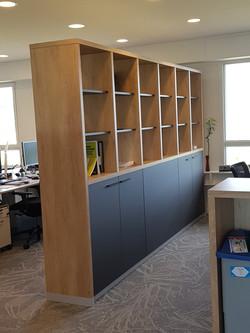 meuble séparation bureau
