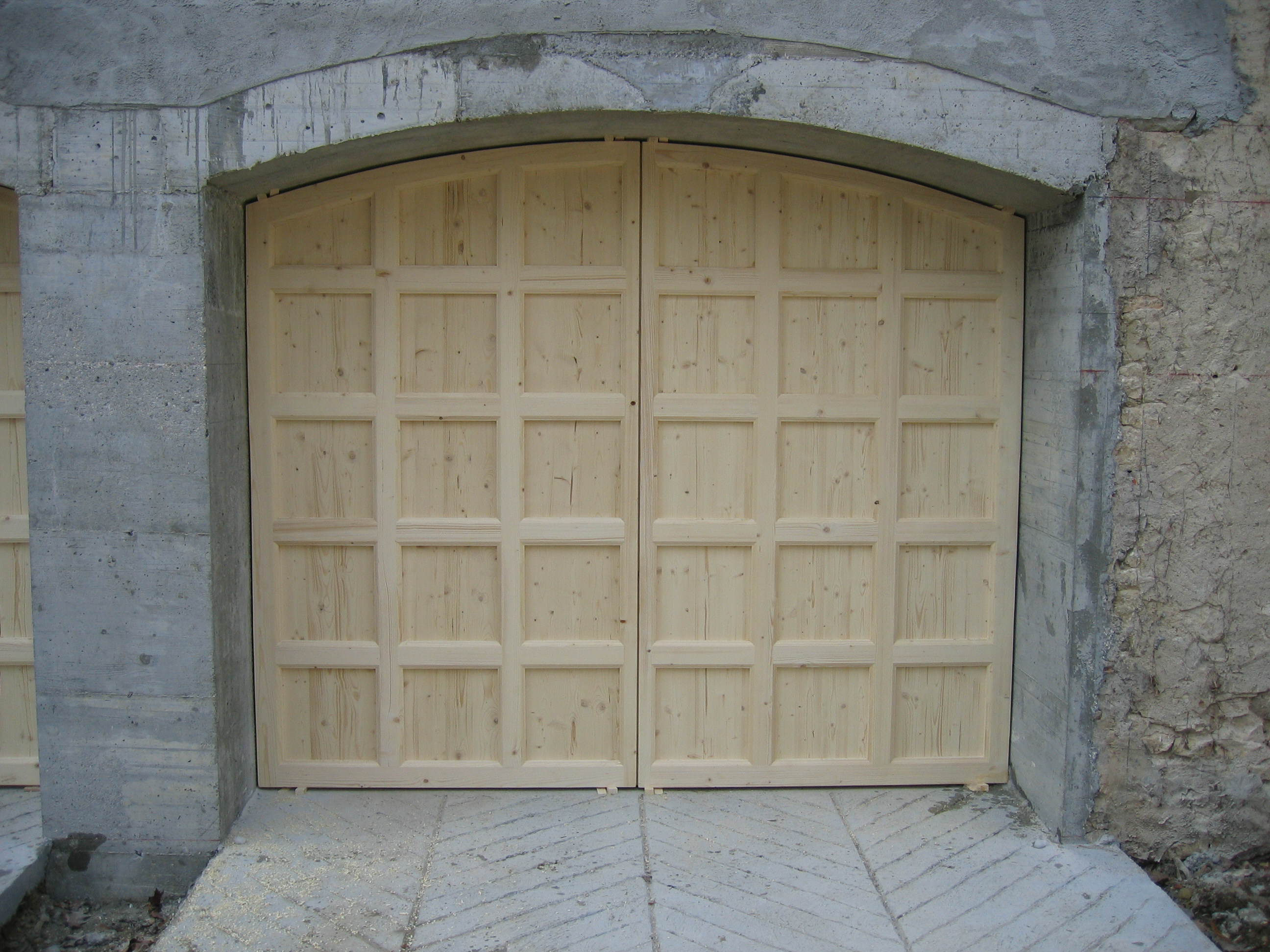 Porte de garage sans finition