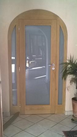 porte chêne vitrée