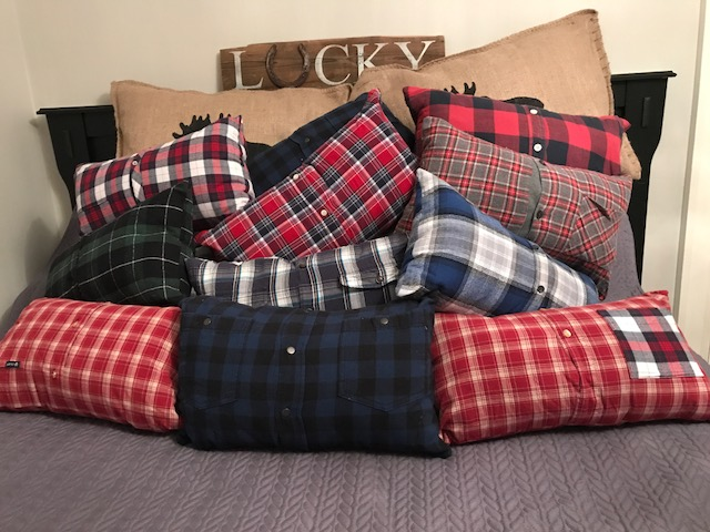 Recycled Shirt Pillows