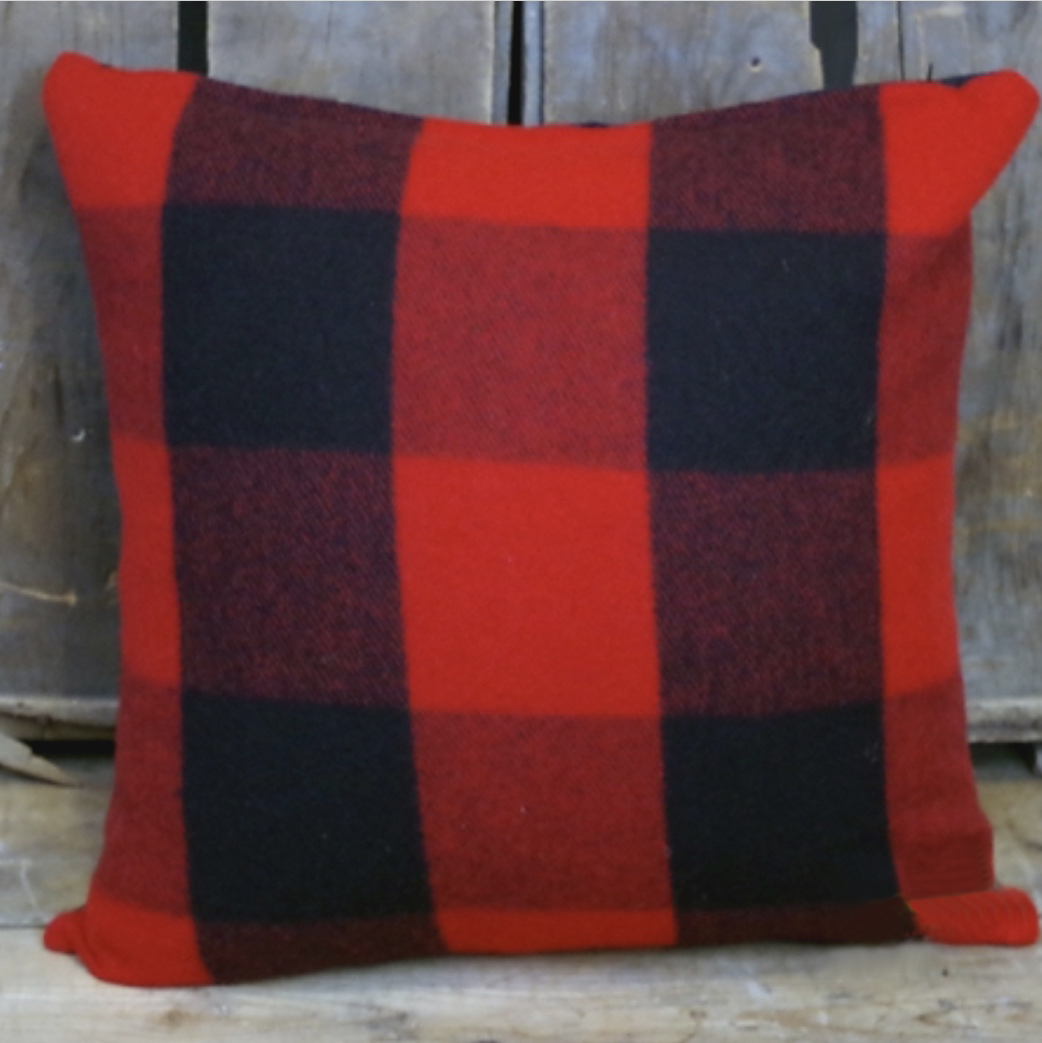 Red & Black Pillow 22 x 22