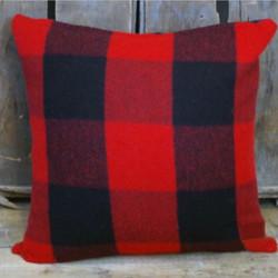 Red & Black Pillow 22 x 22
