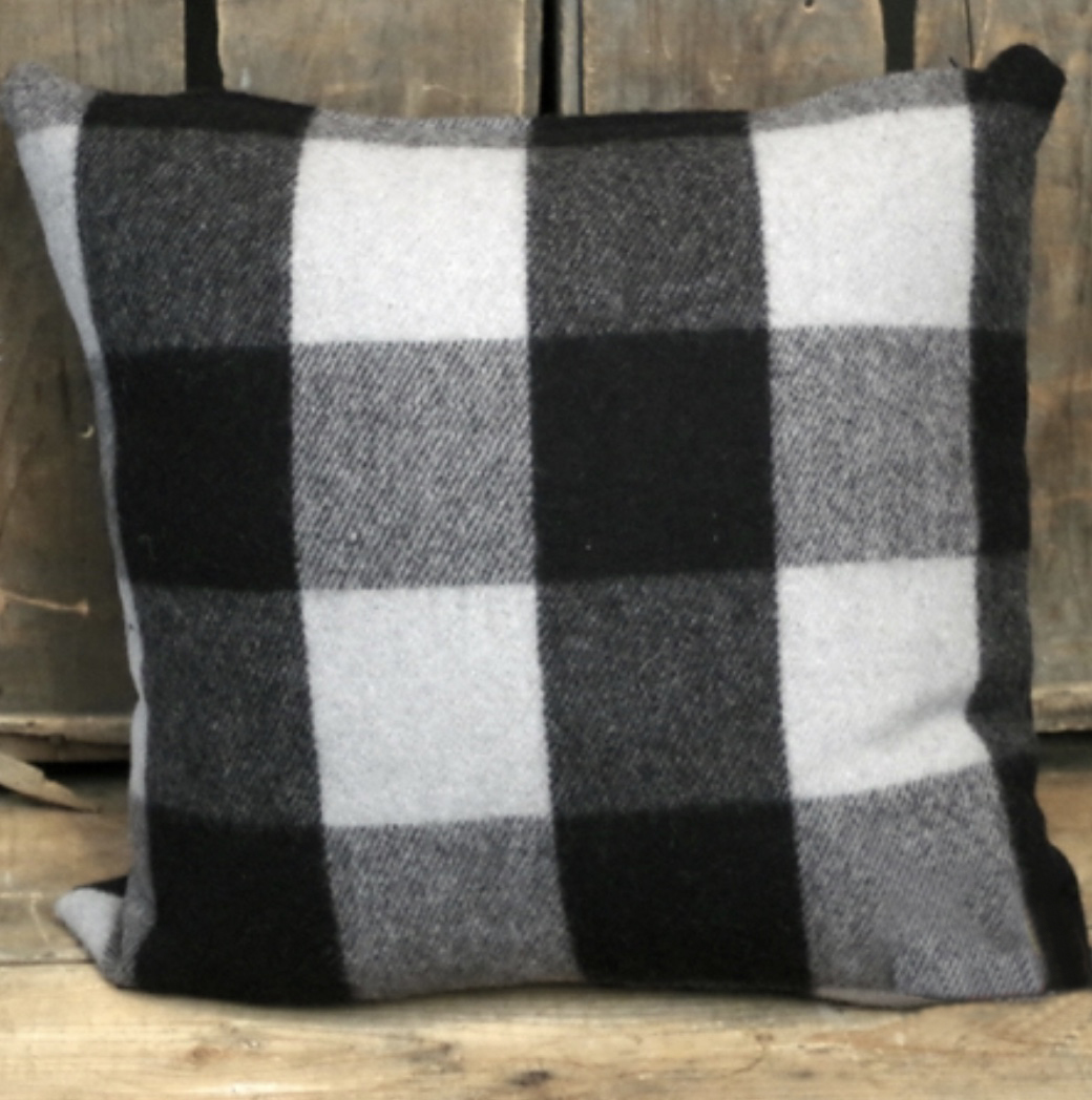 Black & Grey Pillow 22 x 22
