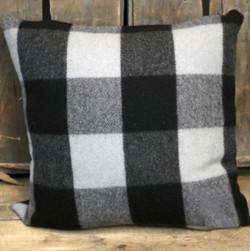 Black & Grey Pillow 22 x 22