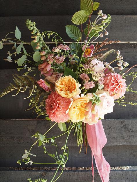 Vintage style bridal florist