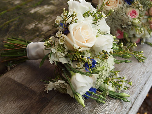 British grown natural wedding flowers