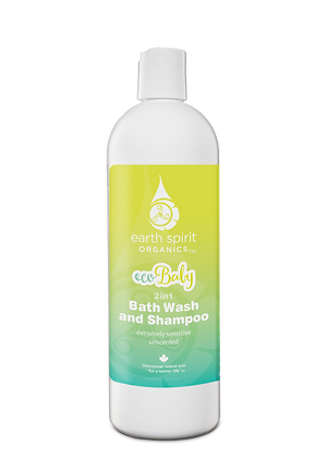 eco Baby Bath Wash & Shampoo - Unscented