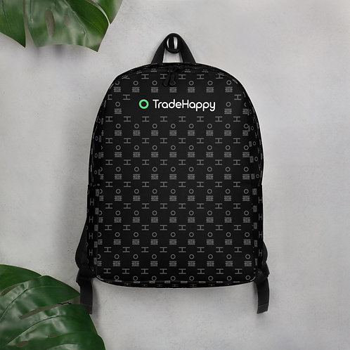 TradeHappy Black Backpack