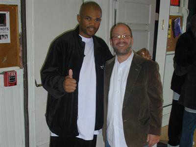 Jon with Darrell McDaniels of Run DMC
