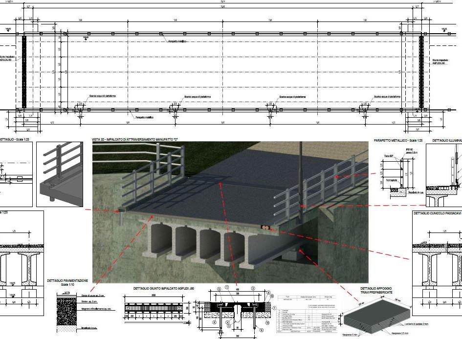 Elaborazione grafica tradizionale bacino di laminazione e opere annesse