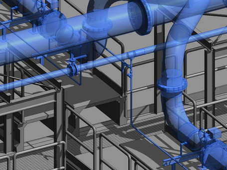 Progettazione BIM multifisciplinare impianto di trattamento acque