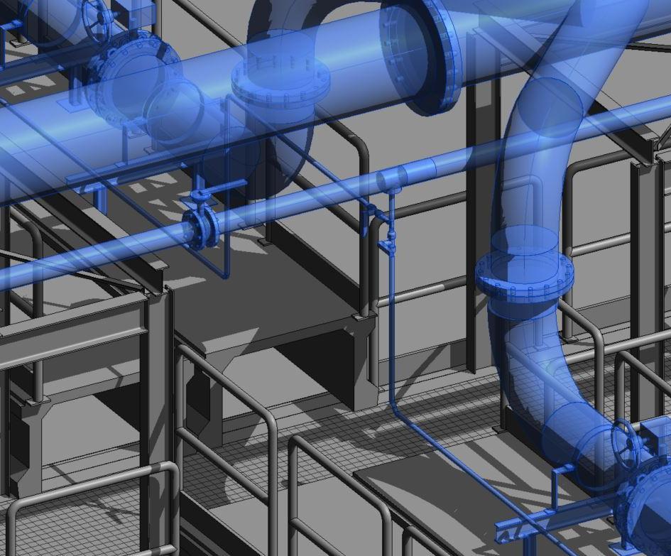 Bim Management della commessa e realizzazione multidisciplinare BIM impianto di depurazione