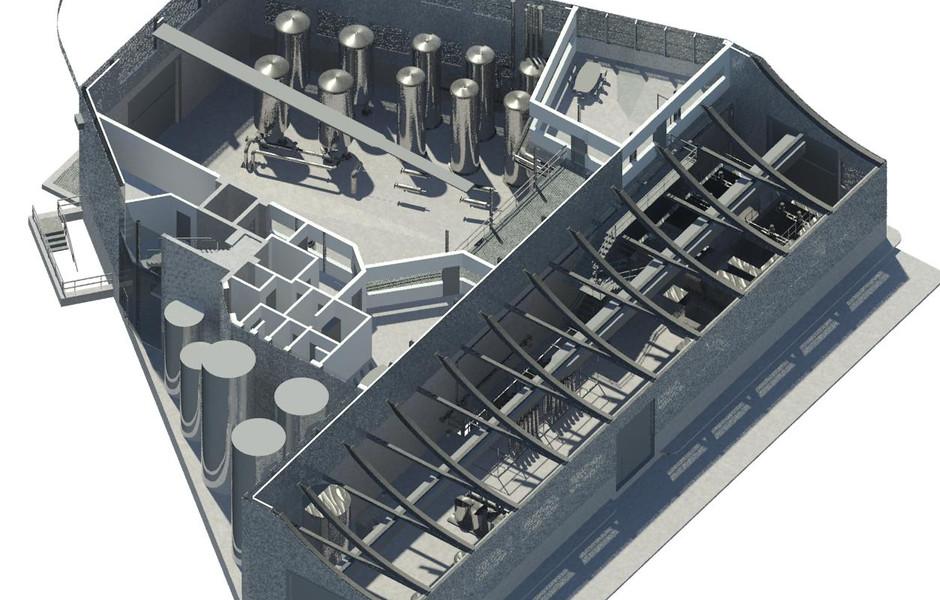 Progettazione BIM multifisciplinare centrale idrica