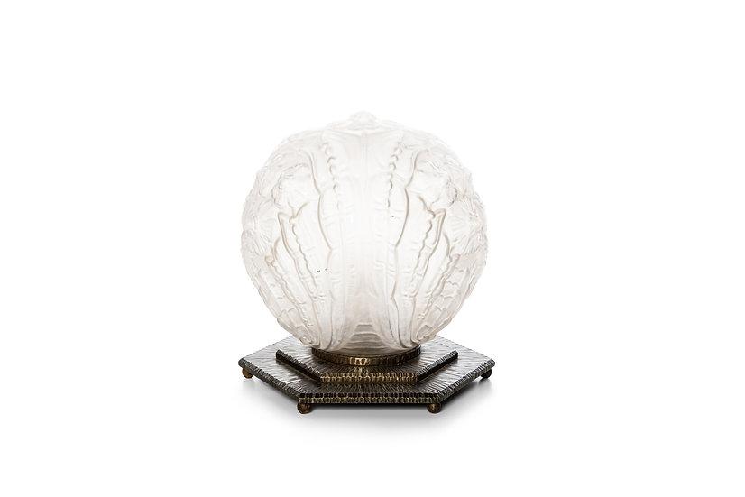 FRENCH ART DECO LAMPE DE TABLE BOULE - c. 1930 -