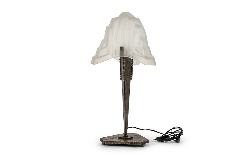 DEGUE ART DECO LAMPE DE TABLE - c. 1930 -