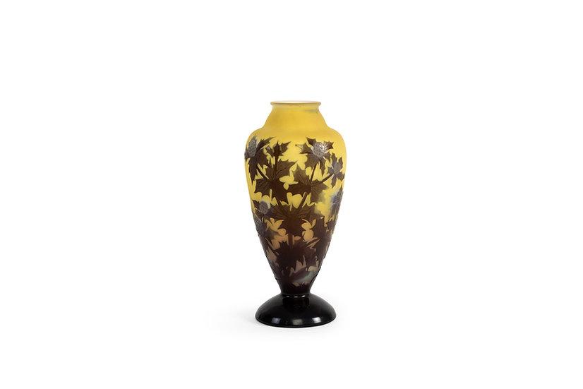 EMILE GALLE - Vase Chardons - c. 1925