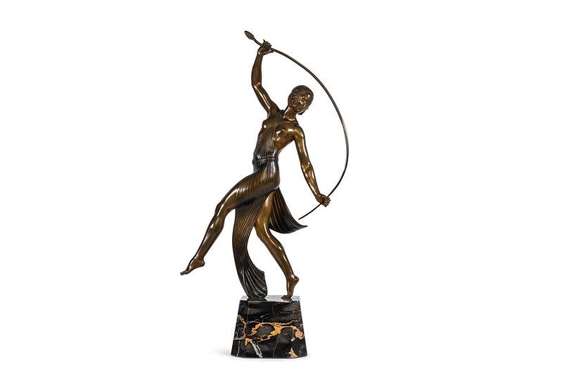 GUIRANDE - JOE DESCOMPS – Danseuse au Thyrse – Le Grand Modèle – c. 1930