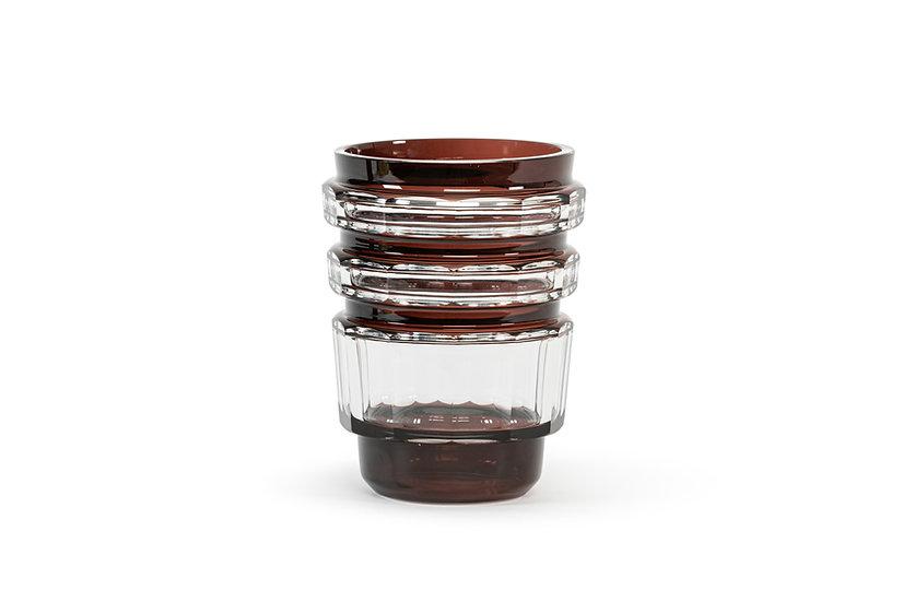VAL SAINT-LAMBERT – JOSEPH SIMON - Vase Formose - Doublé Prune - 1935 –