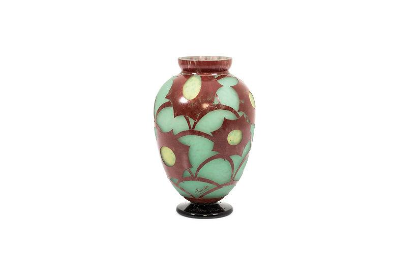 LE VERRE FRANÇAIS/CHARDER – Vase Cosmos – 1932