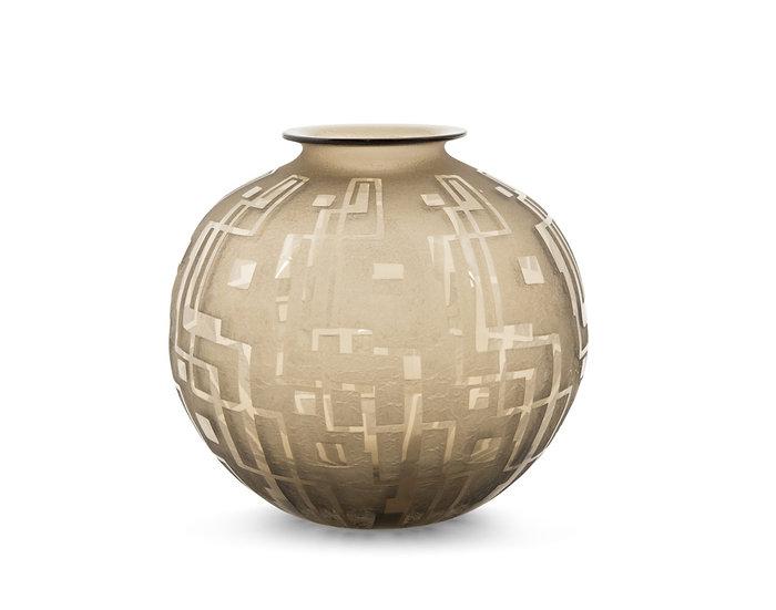 DAUM FRERES - Vase Decor Geometrie