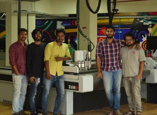 Kerala Startup Mission's Fablab Invests in Zund Digital Cutting System
