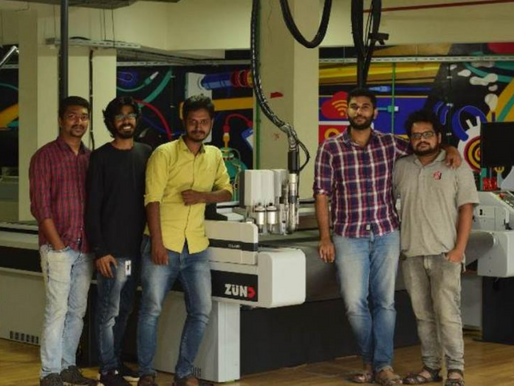 Kerala Startup Mission's Fablab Invests in Zund Digital Cutting System