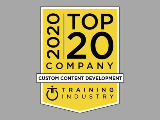 CGS Named a 2020 Top Custom Content Development Company by Training Industry