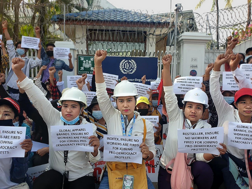 Myanmar's Defiant Garment Workers Demand That Fashion Pay Attention
