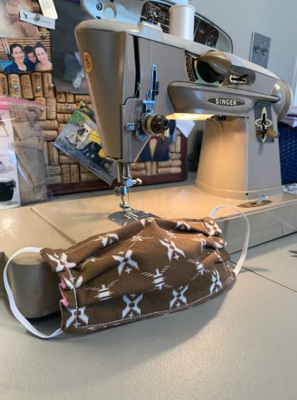 Tiffany Cagle-Schrift's restored 1960s Singer sewing machine was a Christmas gift from her husband.