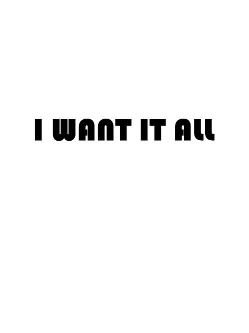 פוסטר I want it all