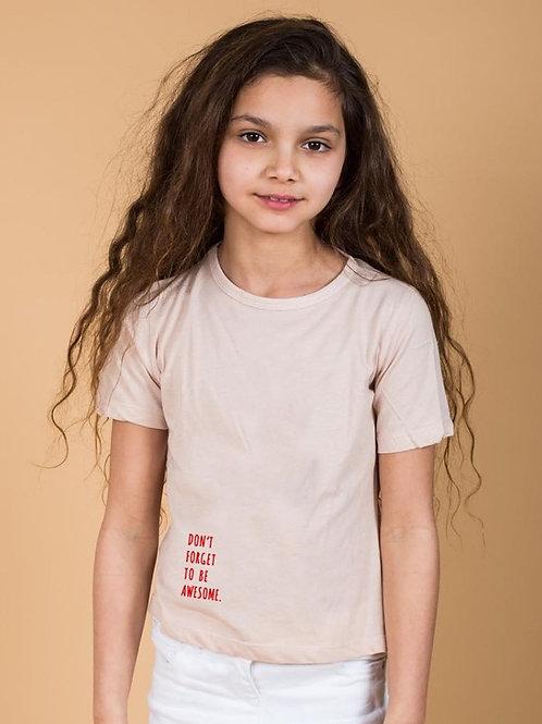 חולצת בנות ורודה