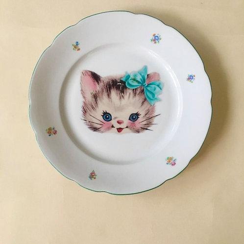 צלחת חתולה מתוקה