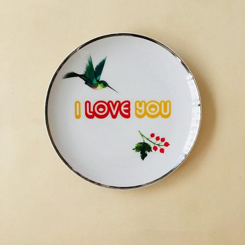 i love you צלחת
