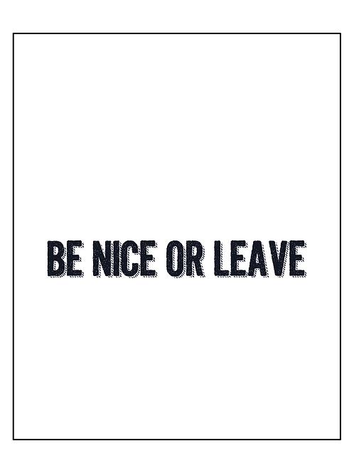 פוסטר Be nice...