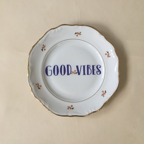 good vibes צלחת
