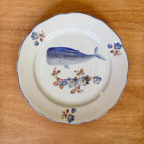 צלחת לוויתן כחול